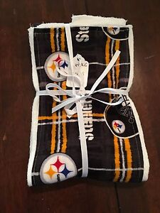 f2fe5cf6fb0 NFL Pittsburgh Steelers Baby Burp Cloth Burp Rag