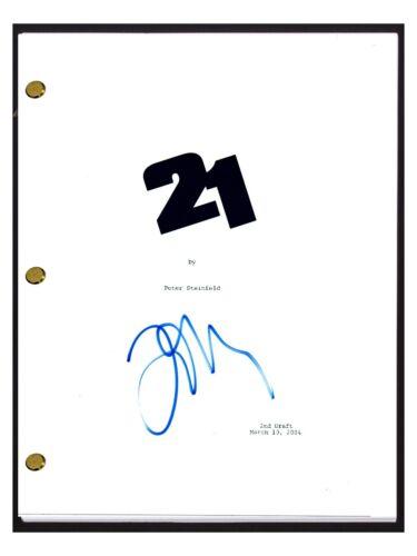 Jim Sturgess Signed Autographed 21 Movie Script Screenplay COA