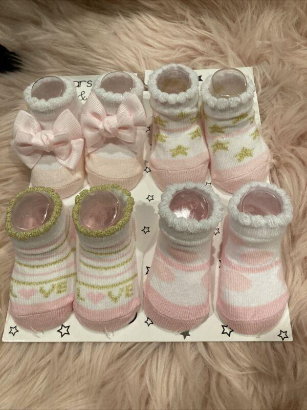 Baby Socks Girl New 3-6 Months