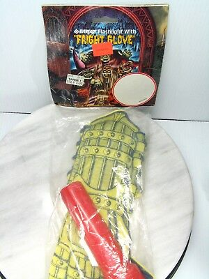 Vintage HALLOWEEN COSTUME GLOVE Eveready Flashlight FRIGHT GLOVE - FOAM