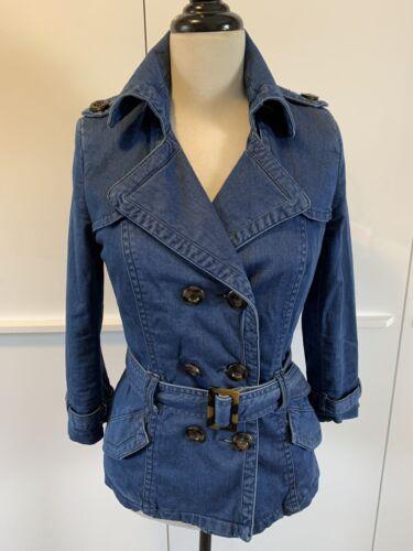 Magnifique veste zara trafaluc bleu jean type trench taille 36/s