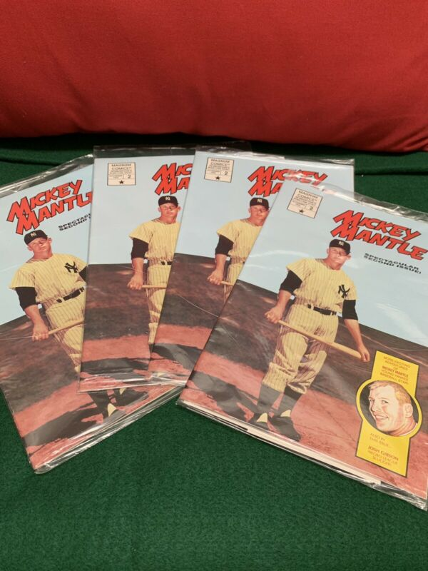 4 MICKEY MANTLE SECOND ISSUE 1992 NEW SEALED W/ 2 BASEBALL POSTCARDS FREE SHIP