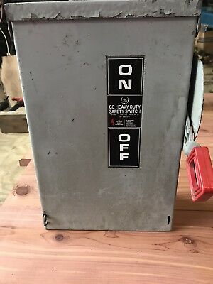 Ge Heavy Duty Safety Switch 30 Amp Disconnect Switch Th3361r Model 10