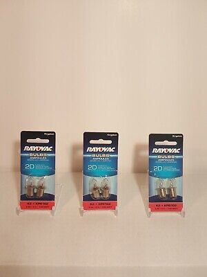 LOT OF 6 Rayovac KRYPTON BULBS - Flashlight Bulbs K2-2 KPR102 NEW IN PACKAGE