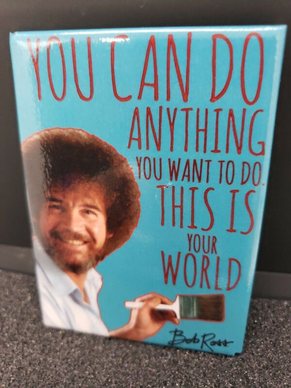 Bob Ross You can do anything This Is Your World Photo Refrigerator Magnet new