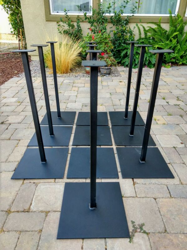 "1 Black Metal Pipe STAND for gumball or candy vending machine. Base 12"" x 12""."