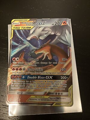 RESHIRAM & CHARIZARD GX 20/214 POKEMON CARD UNBROKEN BONDS ULTRA RARE nm