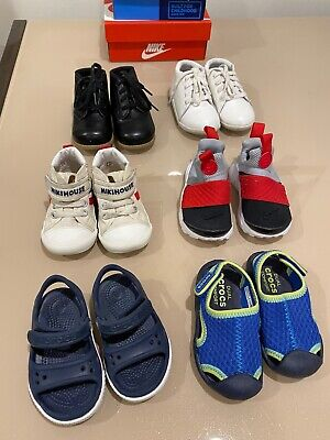 TODDLER BABY SHOES 6 PAIRS - MIKI HOUSE NIKE CROCS 6-18 MONTHS - HUGE DISCOUNT