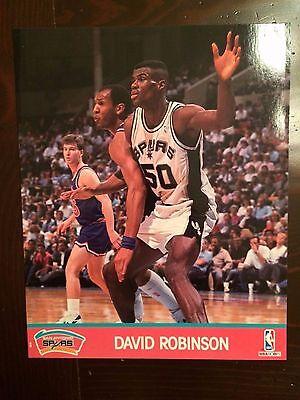 1991 NBA/Hoops Basketball Spurs David Robinson Official 8X10 Photo