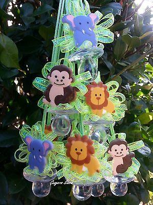 Jungle Safari NOAH'S Pacifier Necklaces Baby Shower Games Prizes Favors W Mokey - Jungle Baby Shower Games