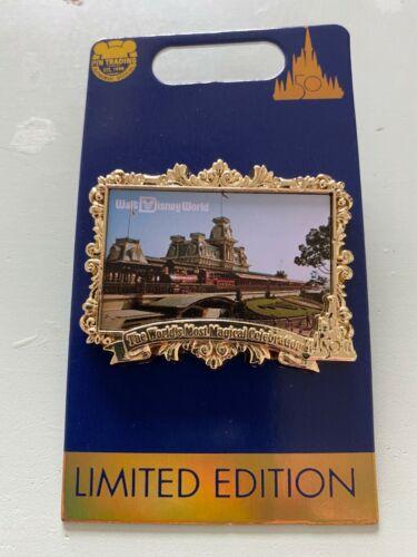 Disney WDW 50th Anniversary Countdown Pin Magic Kingdom LE 3000