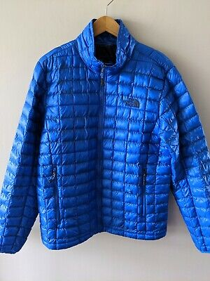The North Face Men's Size Medium Thermoball Full Zip Jacket Puffer Blue