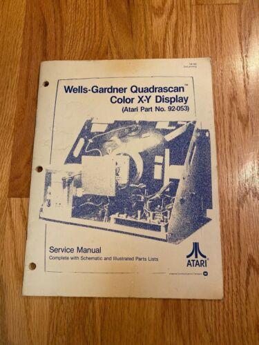 Wells-Gardner Quadrascan Color X-Y Display Service Manual, Atari
