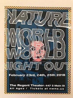 Natureworld feb 2018 18 LA handbill hatebreed turnstile xavier wulf
