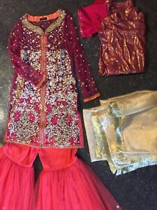 BRAND NEW RED GARARA- Pakistani Indian suits