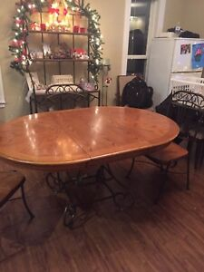 Oak and Iron Dining set