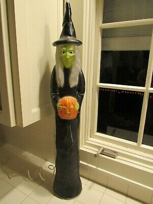 """Vintage Don Featherstone Union Blow Mold 36"""" Halloween Witch"""