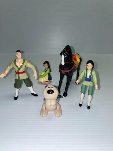 Disney Mulan Princess Li Shang Little Brother Khan Figures Cake Toppers