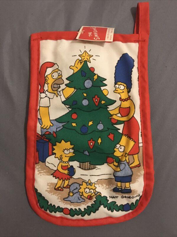 RARE The Simpsons 1990 Vintage XMAS Oven Mitt *NEW*