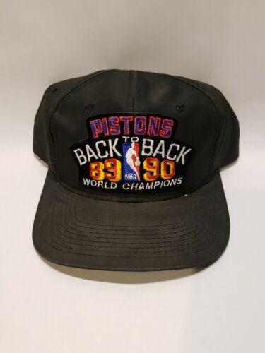 Vintage Detroit Pistons Back to Back 89-90 World Champions Snap Back Hat 🔥🔥