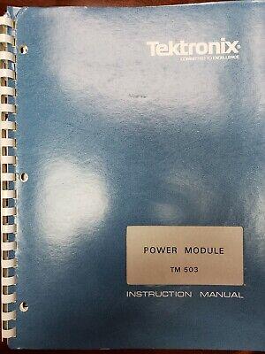 Tektronix Manual Tm 503 Power Module