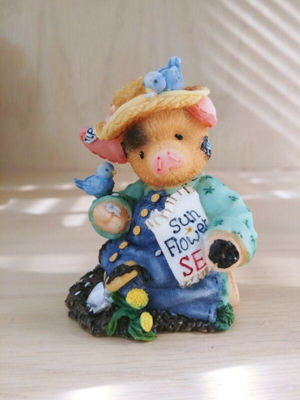 "This Little Piggy Figurine ""Sow A Little Sunshine"" Enesco 1998"