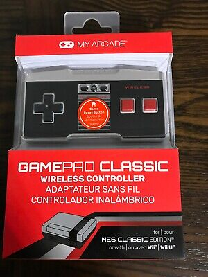 My Arcade Wireless Controller For NES Classic Edition Or Wii/Wii U Brand -