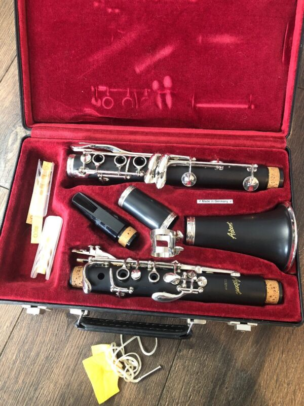 Working Complete Accent CL521P Clarinet W/ Case Made In Germany Instrument
