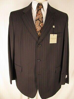 Jack Victor Mens Grey Stripe 3 Btn Suit 48R Canada Made NWT