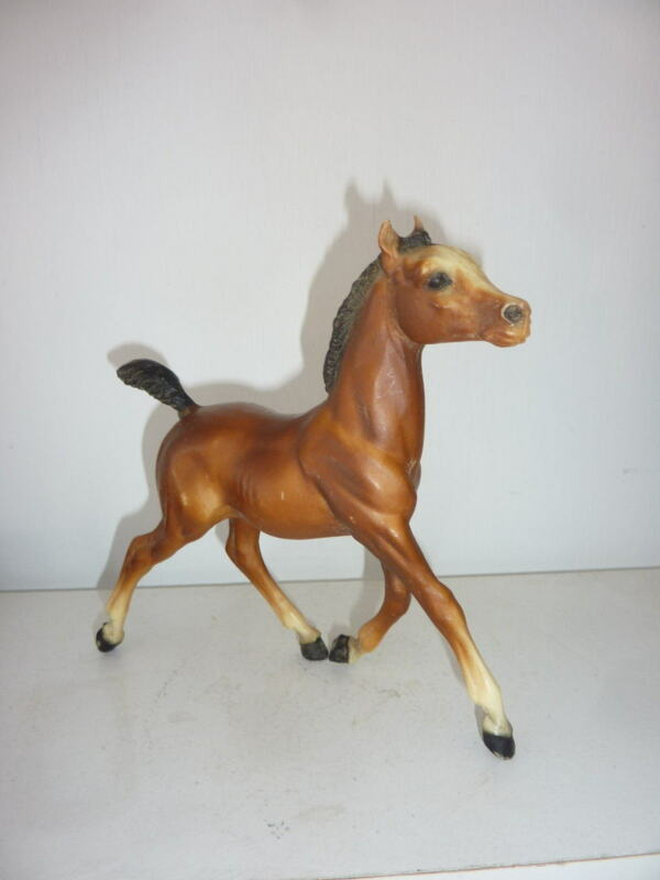 """Breyer Horse Traditional Size Running Foal Bay 7""""x7"""" (C8)"""