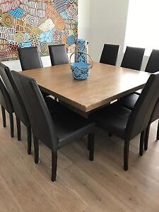 Dining Table with 10 Leather Chairs North Bondi Eastern Suburbs Preview