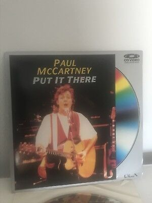 PAUL MCCARTNEY Put It There 1989 Laserdisc LD Laser Disc in SHRINK The Beatles
