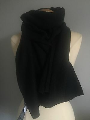 NWT Eileen Fisher  SUPER Soft Camel Wool Blend  Scarf in Black