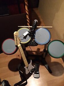 Rockband for ps2(instruments are PS3 compatible)