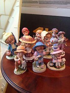 Collection de figurines en porcelaine(10).