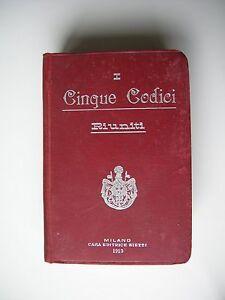 CINQUE-CODICI-I-RIUNITI-MILANO-1913-CASA-EDITRICE-BIETTI