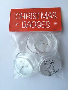 Make Your Own Christmas Badges - Pack of 40