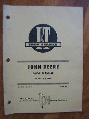 John Deere R Diesel It Tractor Shop Manual