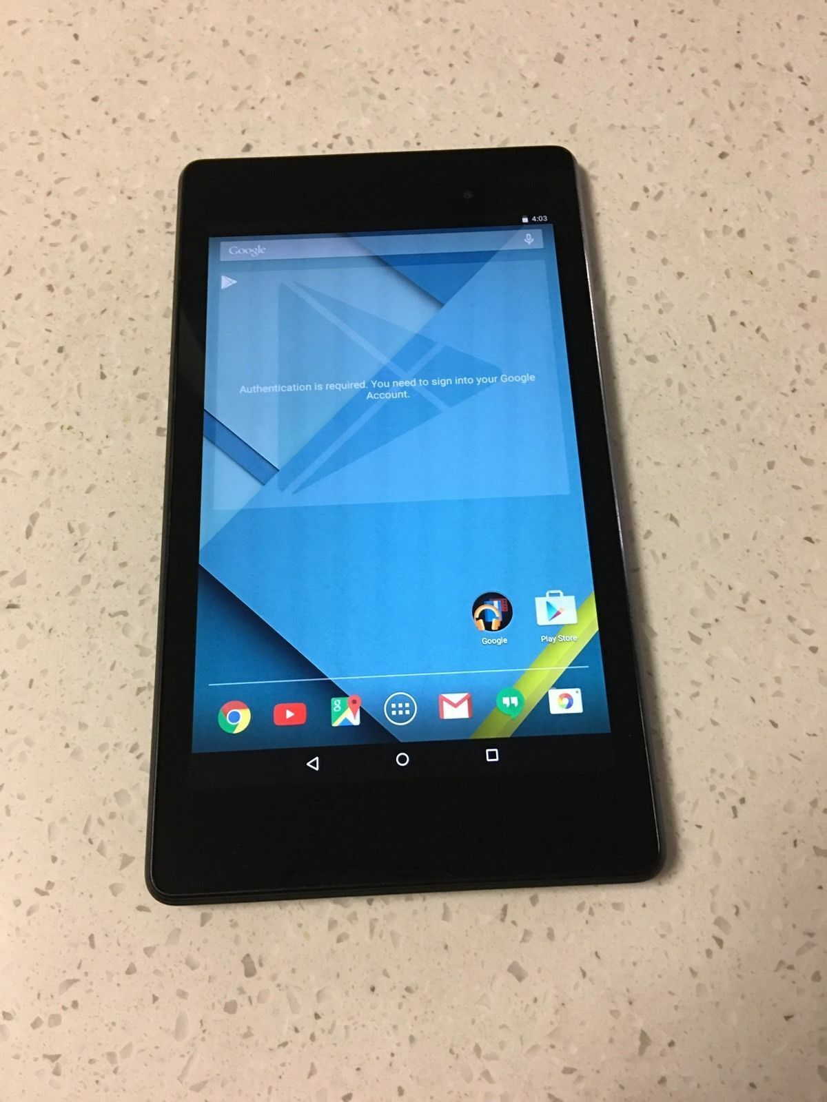 Asus Google Nexus 7 (2nd Generation) 16GB Wi-Fi 7in Tablet- Black