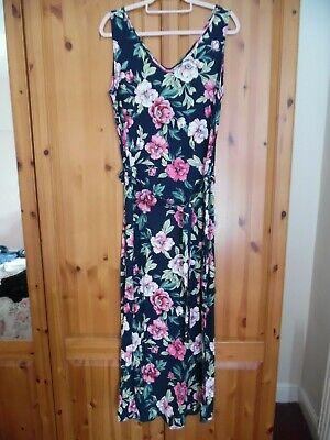 BNWOT Jacqueline De Yong Navy Floral Maxi Dress Size 12