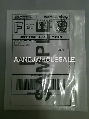 50.Pcs Clear Packing List Postage Shipping Label Envelopes 7x5.5 Self Adhesive 50 Pack Self Adhesive