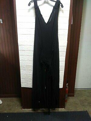Caravana Womens Pakab Cotton Jumpsuit Wrap Black