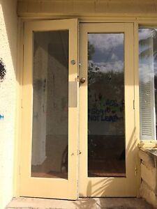 French Doors Double Pair Hardwood Vintage Timber External Tempe Marrickville Area Preview