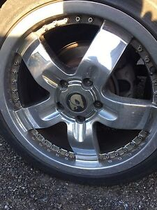 4 18inch commodore rims with low profile tyres, cheap, bargain Liverpool Liverpool Area Preview