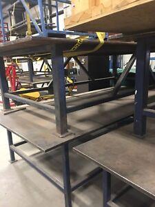 Steel welding tables