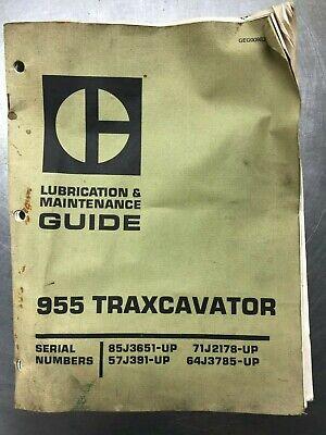 Genuine Cat 955 Traxcavator Caterpillar Lubrication Maintenance Manual Guide