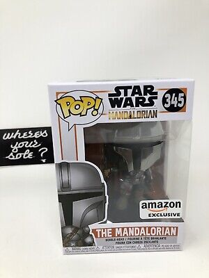 Funko Pop Star Wars the Mandalorian Chrome amazon exclusive new with protector