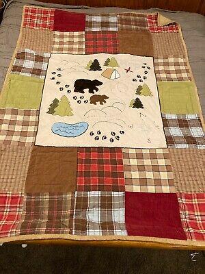 WOOLRICH KIDS - BIG BEAR CAMPGROUND Comforter ~Youth/Twin~ + Sham