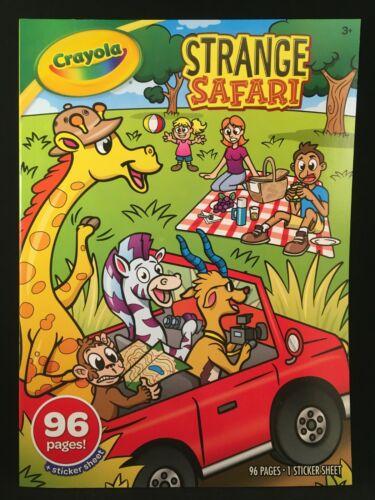 Crayola - Strange Safari - Coloring Book - 96 Pages - 1 Sticker Sheet