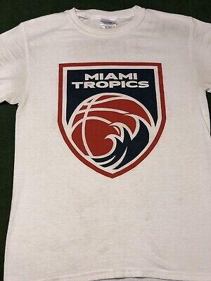 af679c2158bc Miami tropics basketball USBL NBA T-shirt Jersey heat ABA PSL Wade